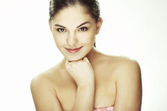 Portrait of beautiful happy young woman Royalty Free Stock Photos