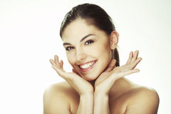 Portrait of beautiful happy young woman Stock Photo