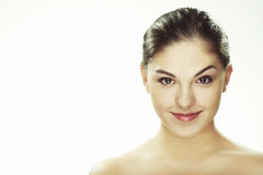 Portrait of beautiful happy young woman Royalty Free Stock Images