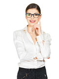Portrait of the happy  woman in glasses Royalty Free Stock Photos