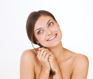 Portrait of beautiful,  healthy and sensual girl Stock Image