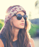 Portrait of beautiful hipster girl Royalty Free Stock Photography