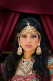 Portrait of a beautiful Indian Bride. Head and shoulder portrait of a beautiful Indian bride Stock Photos