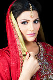 Portrait of a beautiful indian bride Royalty Free Stock Photos