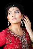 Portrait of a beautiful indian bride Royalty Free Stock Image