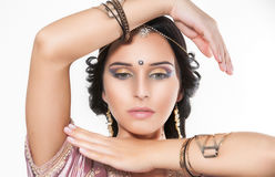 Portrait beautiful indian girl Stock Photo