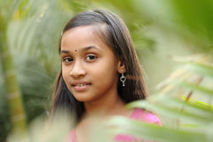 Portrait of Beautiful Indian teen girl Royalty Free Stock Photos