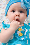 Portrait of beautiful infant girl Royalty Free Stock Photography