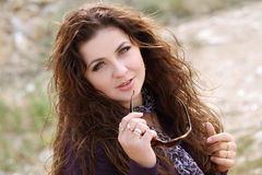 Portrait of beautiful lady Royalty Free Stock Images