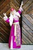 Portrait beautiful lady in the Armenian folk clothing Stock Image