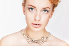 Portrait of beautiful lady Stock Photos