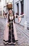 Portrait Beautiful Lady In The Armenian Folk Clothing Royalty Free Stock Photo