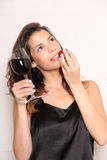 Wine and Strawberry Royalty Free Stock Image