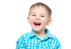 Portrait of a beautiful laughing boy Stock Photo