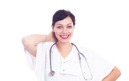 Portrait of beautiful laughing female doctor Royalty Free Stock Photo
