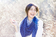 Portrait on beautiful laughing woman Royalty Free Stock Image