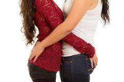 Portrait of beautiful lesbian couple in love Stock Photo