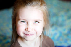 Portrait of a beautiful liitle girl. Portrait of an adorablel liitle girl Royalty Free Stock Photo