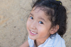 Portrait of a beautiful liitle girl close-up Royalty Free Stock Photo