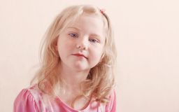 Portrait of beautiful little blond girl Royalty Free Stock Image