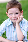 Portrait of beautiful little boy Stock Photo