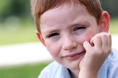 Portrait of beautiful little boy Stock Photography