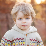 Portrait of beautiful little boy of 2 , outdoors Stock Image