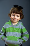 Portrait of a beautiful little fashionable boy Royalty Free Stock Photo
