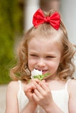 Portrait of the beautiful little girl Royalty Free Stock Images