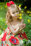 Portrait of the beautiful little girl Royalty Free Stock Photos