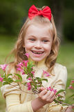 Portrait of the beautiful little girl Royalty Free Stock Image