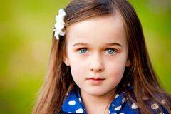 A portrait of a beautiful little girl Royalty Free Stock Photo