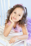 Portrait of a beautiful little girl Royalty Free Stock Image