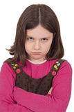 Portrait of beautiful little girl. Angry face Royalty Free Stock Images