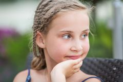 Portrait of a beautiful little girl Royalty Free Stock Photos