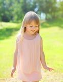 Portrait of beautiful little girl child wearing a dress Royalty Free Stock Image