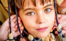 Portrait of a beautiful little girl close up. Portrait of a beautiful little girl Royalty Free Stock Photography
