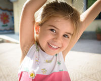 Portrait of a beautiful little girl close-up Royalty Free Stock Photos