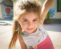 Portrait of a beautiful little girl close-up Royalty Free Stock Photography