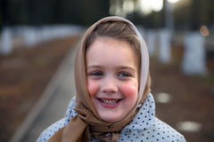Portrait of beautiful little girl royalty free stock photos
