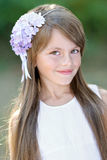 Portrait of a beautiful little girl Stock Photo