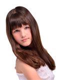 Portrait of beautiful little girl with long hair Royalty Free Stock Images