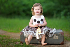 Portrait of a beautiful little girl Stock Photos