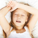 Portrait of a beautiful little girl sleeping Royalty Free Stock Photography