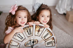 Portrait of Beautiful little girls Royalty Free Stock Photo