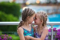 Portrait of beautiful little girls Stock Photos