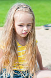 Portrait of beautiful little girlwith long hair Royalty Free Stock Image