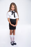 Portrait of a beautiful little school girl Royalty Free Stock Photos