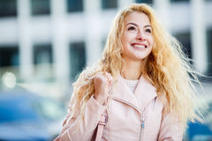 Portrait of beautiful long-haired blonde Royalty Free Stock Photography