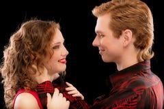 Portrait of beautiful loving couple Stock Photos